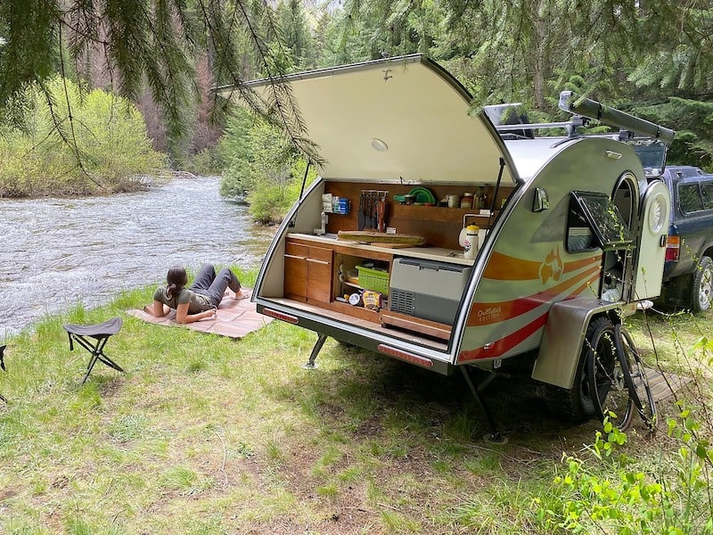 Small Camper teardrop trailer Missoula RV Rental
