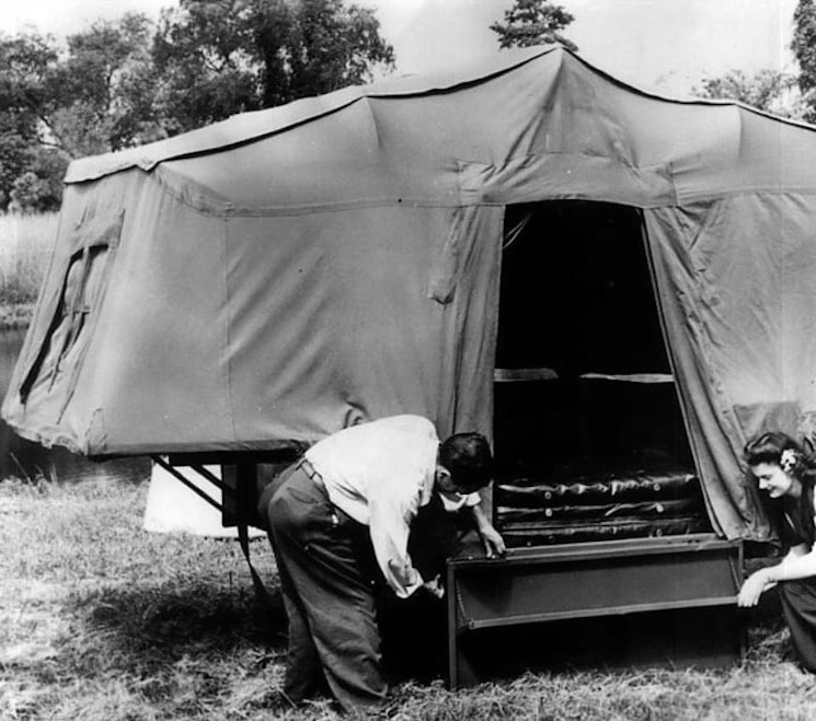 Tent Camper early 1900s