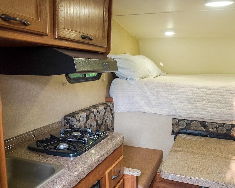 Truck Camper Missoula RV Rental Interior