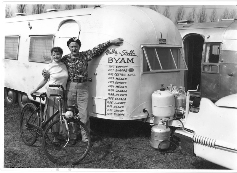 Wally and Stella Byam airstream travel trailer