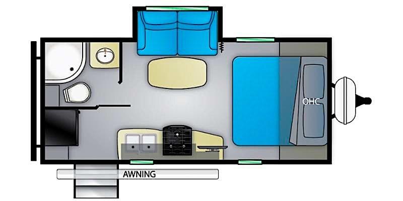 2021 Heartland Mallard M210RB floor plan