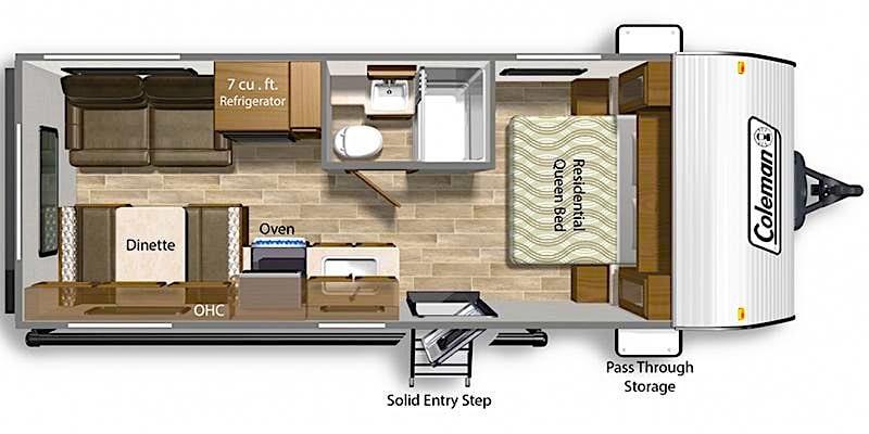 Coleman Lantern 202RD floor plan