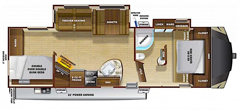 Highland Ridge Light 292BH Floor plan
