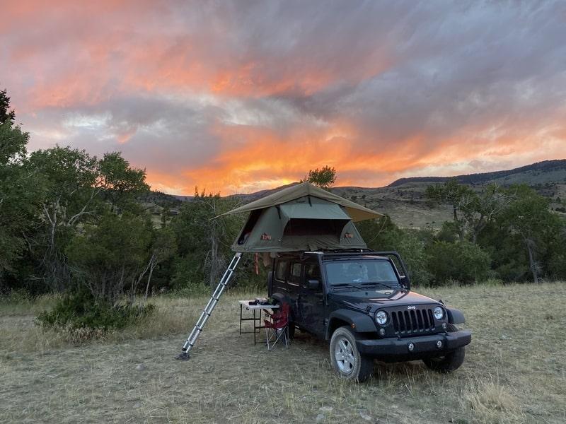 Best Rooftop Tent Camper Rental Bozeman Ext 2