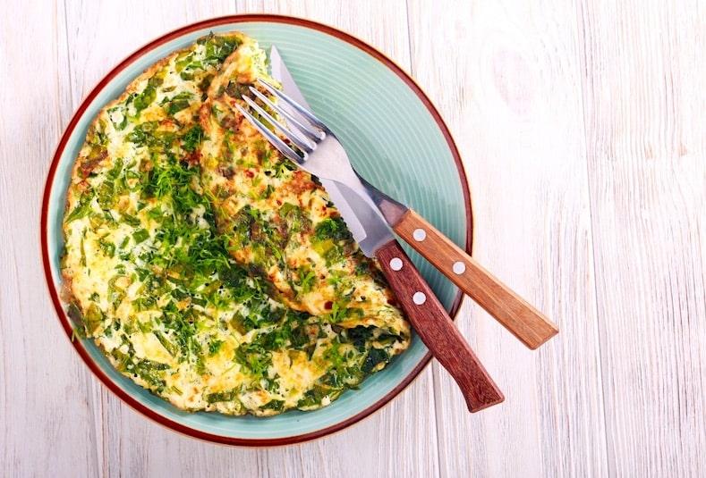 Melisa's herb omelet