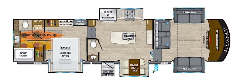 Alliance RV Paradigm 385FL 5th wheel front living room