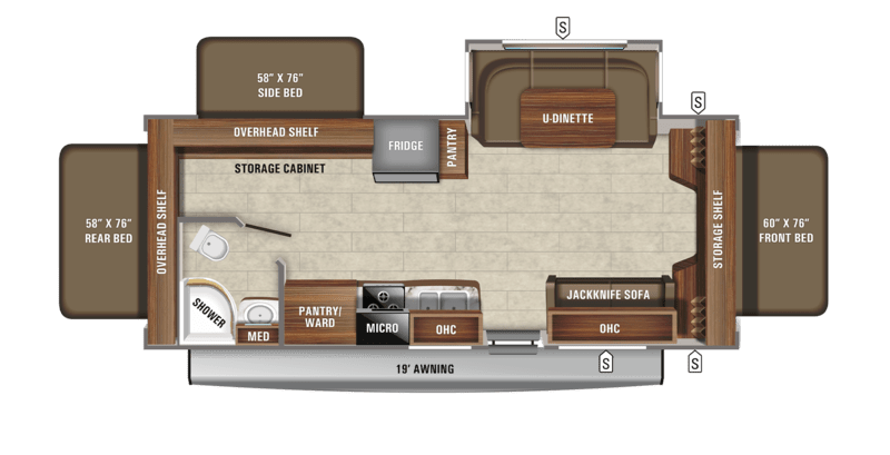 Best Expandable Hybrid Trailers Jayco Jay Feather Floor Plan