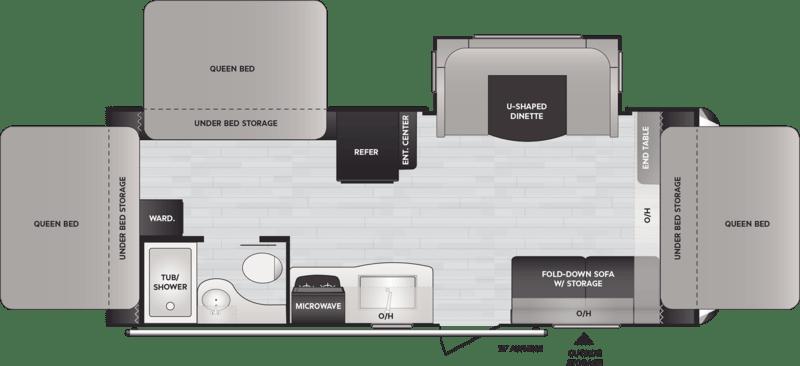 Best Expandable Hybrid Trailers Keystone Bullet Crossfire Floor Plan