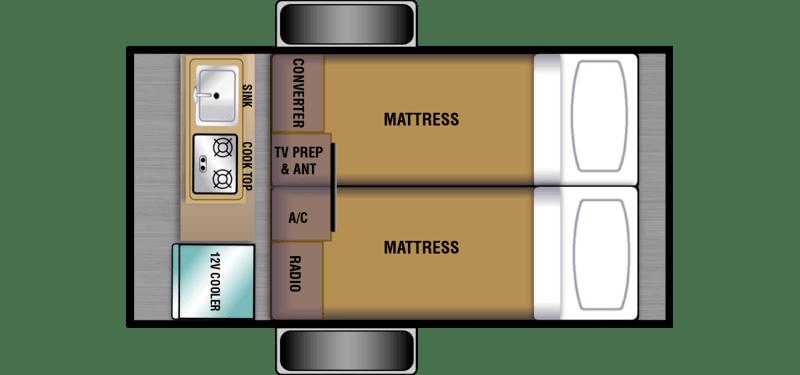 Braxton Creek Bushwhacker Best Camper Trailers Floor Plan