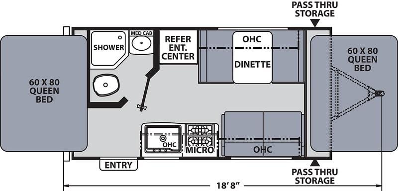 Coachmean Apex Nano Floor Plan