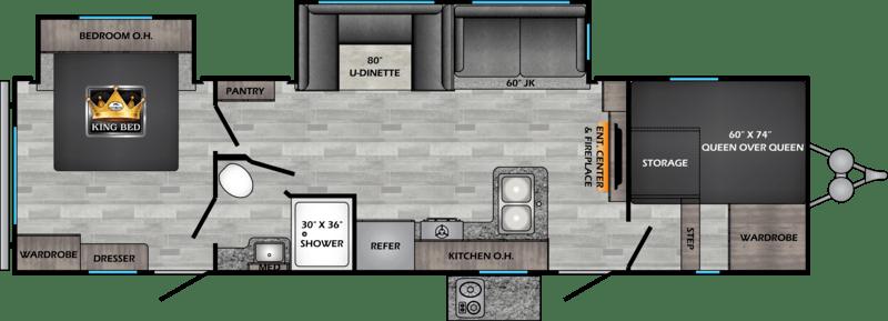 Crossroads RV Zinger Floor Plan