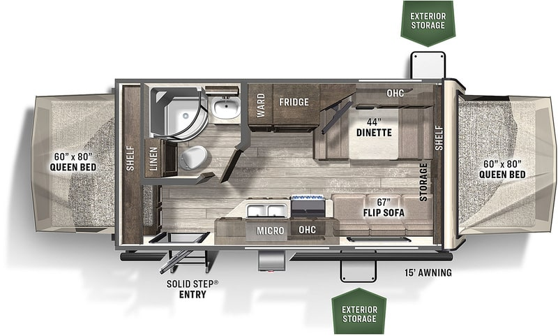 Forest River Flagstaff Shamrock Floor Plan