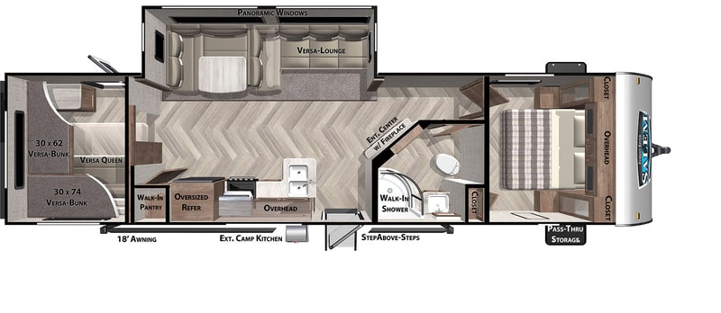 Forest River RV Salem 29 Floor Plan