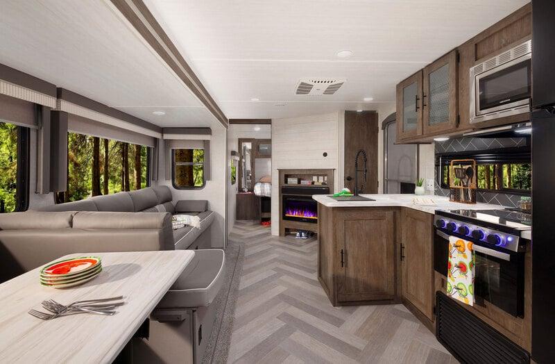 Forest River RV Salem 31 Best Travel Trailers Outdoor Kitchen Int