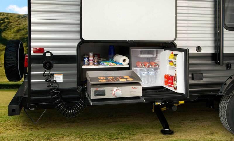 Forest River RV Salem Cruise Lite Best Travel Trailers Outdoor Kitchen Ext 2