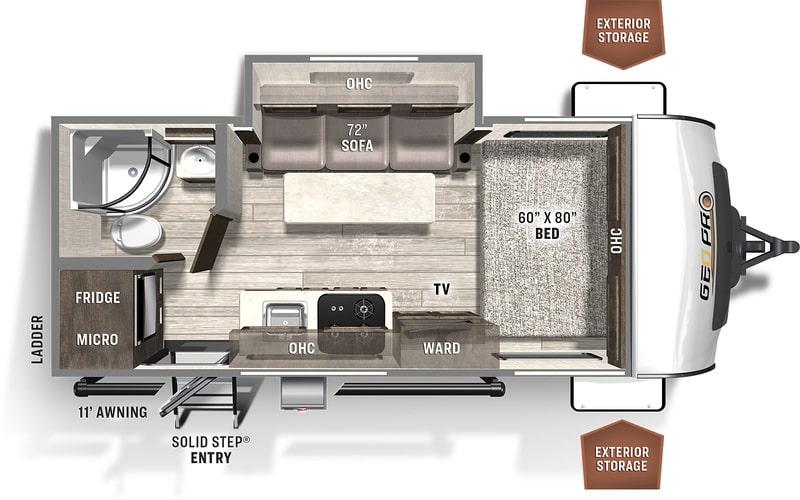 Forest River Rockwood Geo Pro Floor Plan