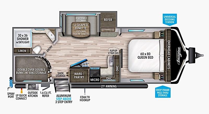 Grand Design Imagine 2400BH bunk  bed floor plan
