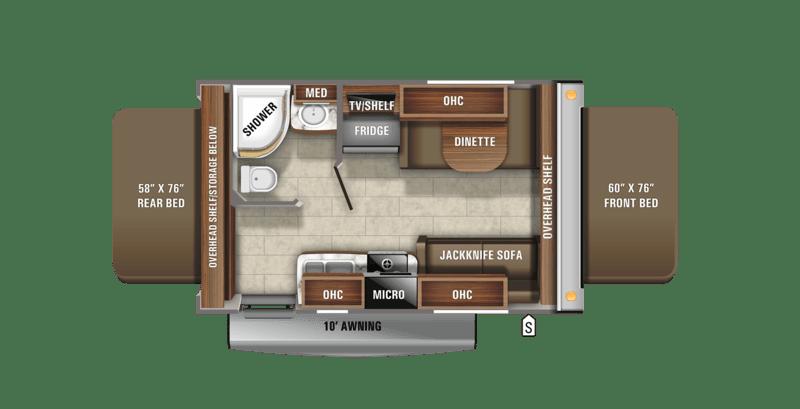 Jayco Jay Feather X17Z Floor Plan
