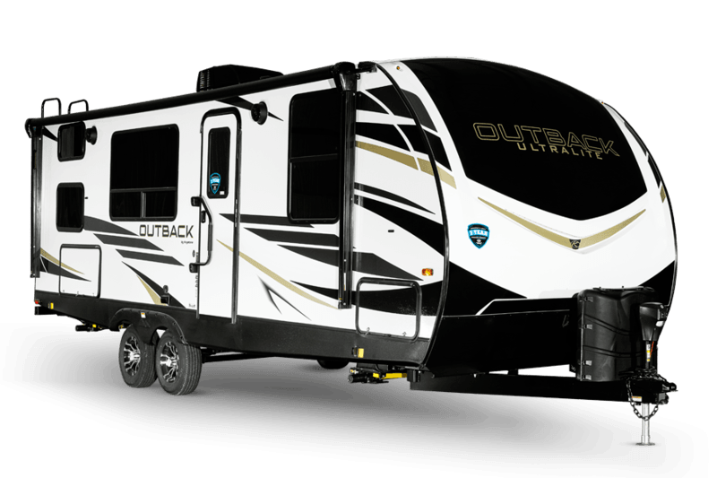 Keystone RV Outback Ultra Lite Best Travel Trailers Outdoor Kitchen Ext