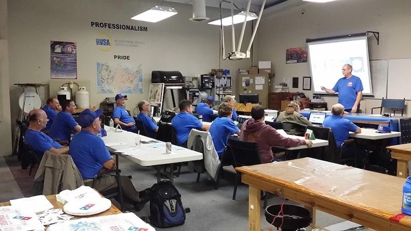 RV service technician training