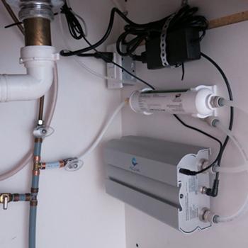 Acuva Under Kitchen sink in RV