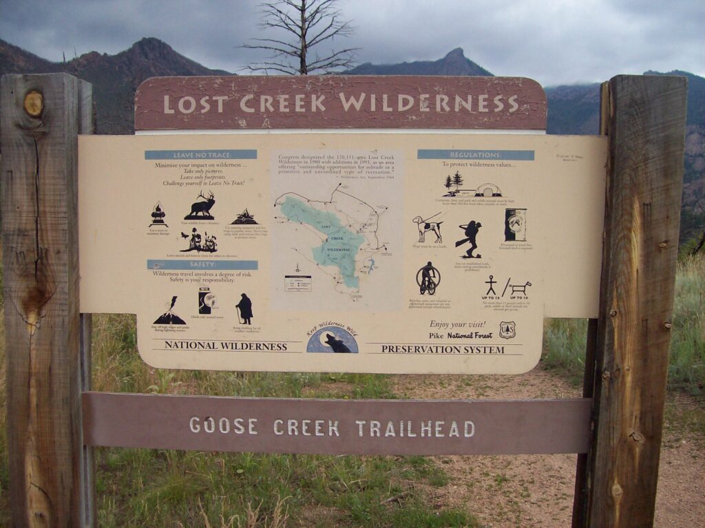 The Lost Creek Loop features awesome views of the surrounding mountains with an abundance of granite rock formations to explore.