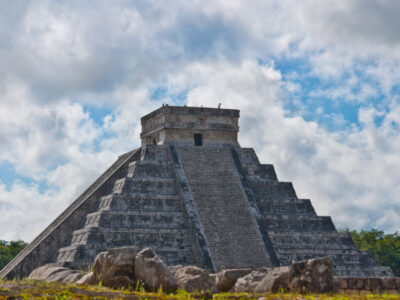 Aztec temple from Mexico