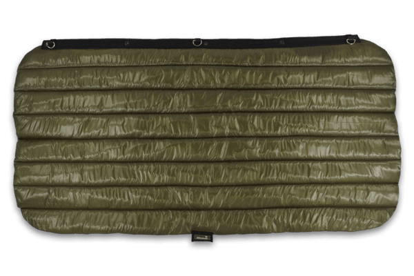 Insulated window jacket in olive green