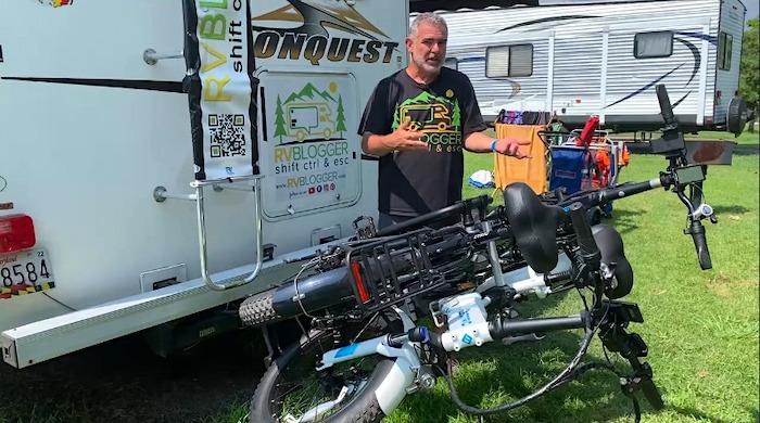 Must Have Campervan Accessories folding bike rack