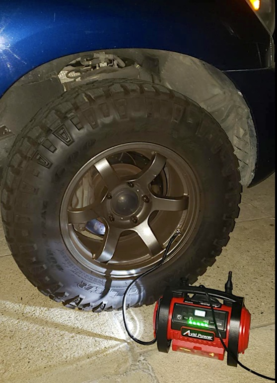 Tire inflator must have camper van accessory