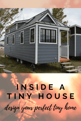 inside a tiny house, design your perfect tiny home pin for pinterest