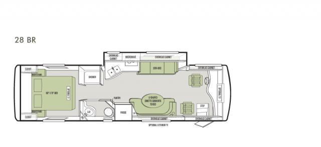 2014 Tiffin Allegro Breeze Floor Plans