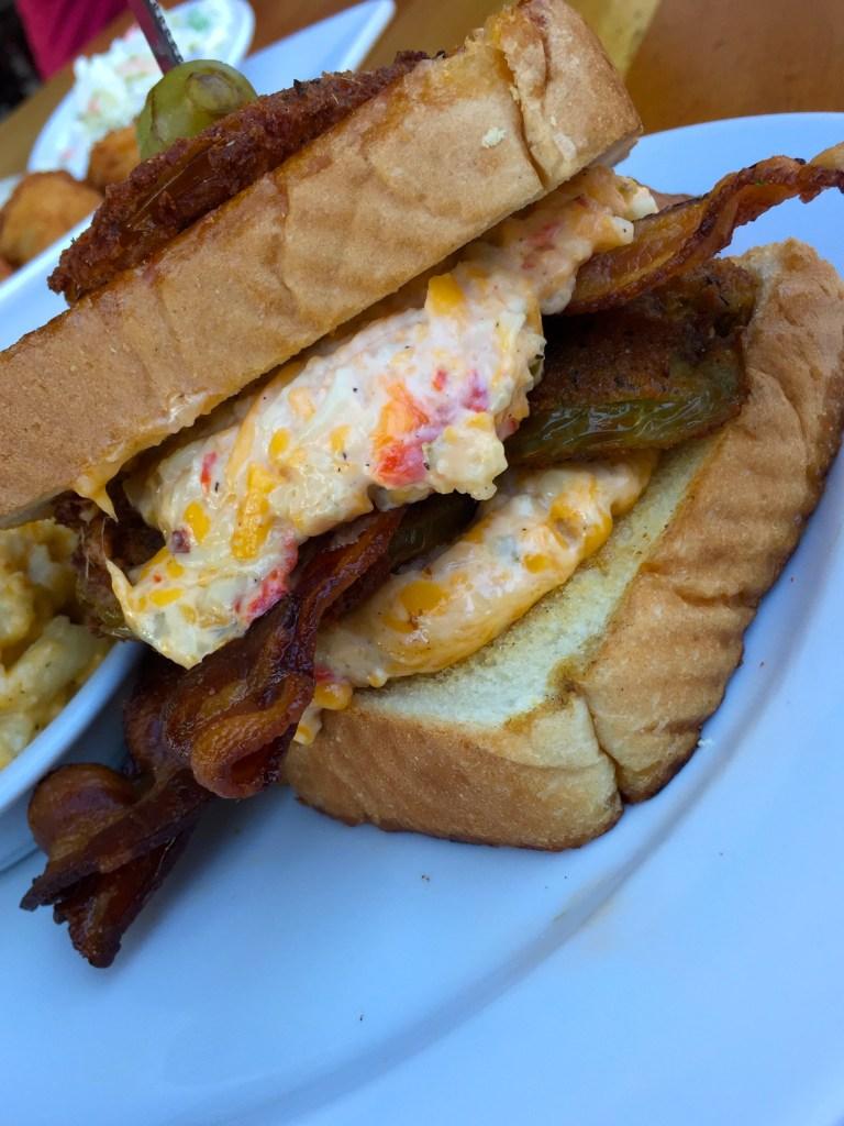 Page's Okra Grill Sandwich