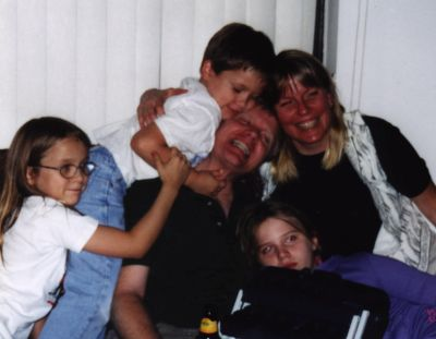 Gabrielle Pettingell with her family in happy times