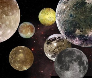 Seven moons NASA composite photo by Paul H. Smith