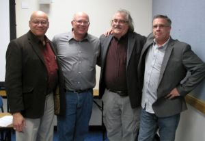 Paul's remote viewing students with Paul after the AFIO talk