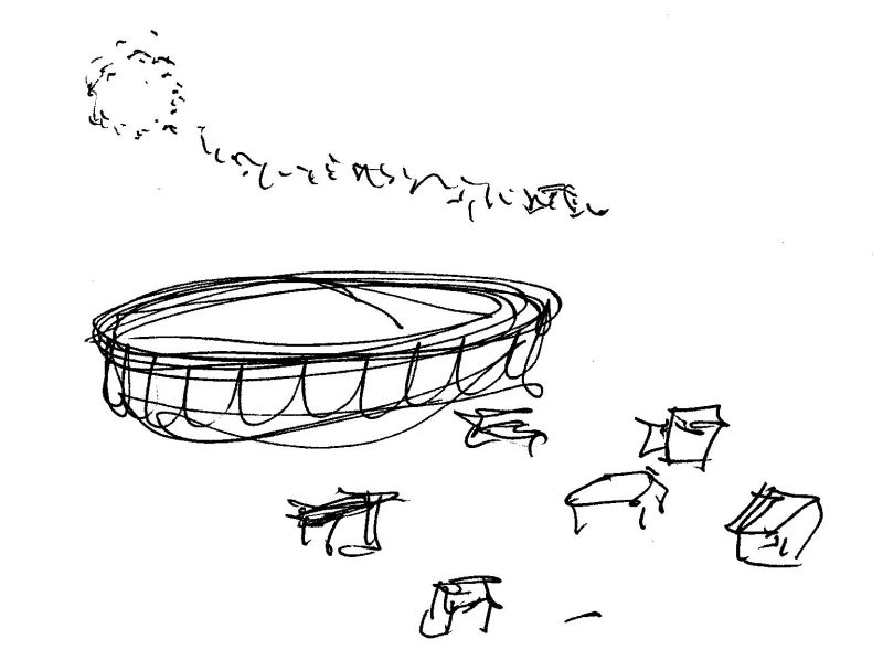 Detail of final controlled remote viewing session sketch for comparison