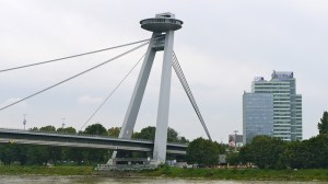 Novy Most Bridge, Bratislava, Slovakia--close up of support tower