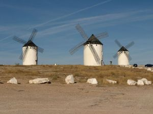 Another view of windmills in Campo de Criptana, la Mancha, Spain