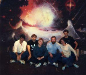 Ingo Swann with CRV students, May 1984 (courtesy, Charlene Shufelt)