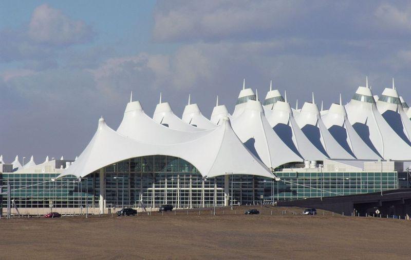 Target 383 is Denver International Airport Terminal Building in Colorado