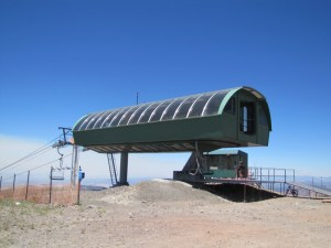 Another view of remote viewing target 415, a ski lift terminal at Brian Head ski resort, Utah