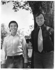 Dr. Hal Puthoff (L) and Ingo Swann collaborated in creating controlled remote viewing