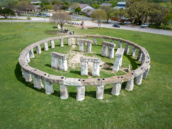Target 210323607 is Stonehenge II This is an homage to the original Stonehenge monument and is located in the Texas Hill Country. Target 210323607 is Stonehenge II. This is an homage to the original Stonehenge monument and is located in the Texas Hill Country