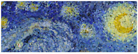 Starry Night through 6,667 uniform random samples