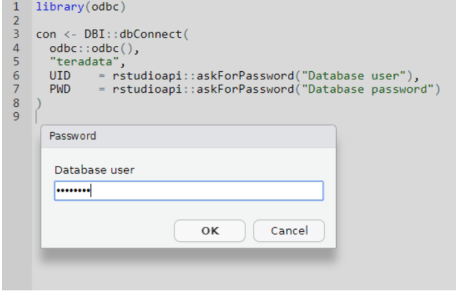 Figure: Providing credentials via an interactive prompt