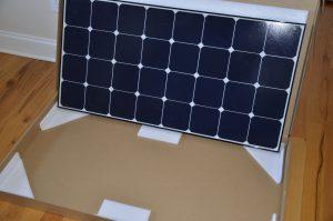 Solar panel in box