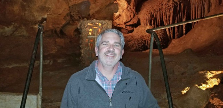 Brad Saum at Diamond cave