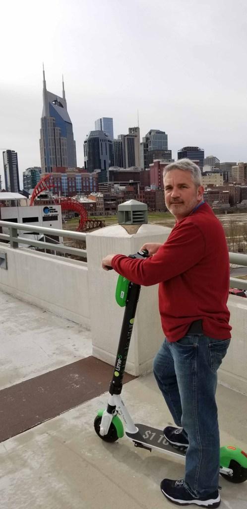 Fun little scooter to jet around downtown Nashville.