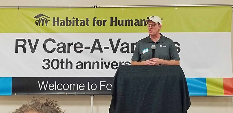 Jonathan Reckford, CEO of Habitat for Humanity International was a featured speaker.